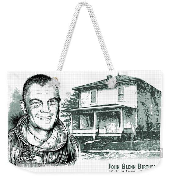 John Glenn Birthplace Bw Weekender Tote Bag