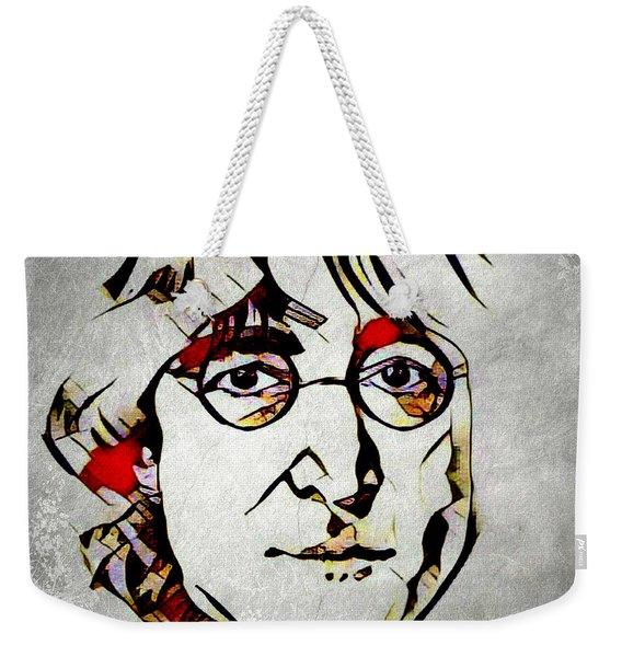 John Lennon Weekender Tote Bag