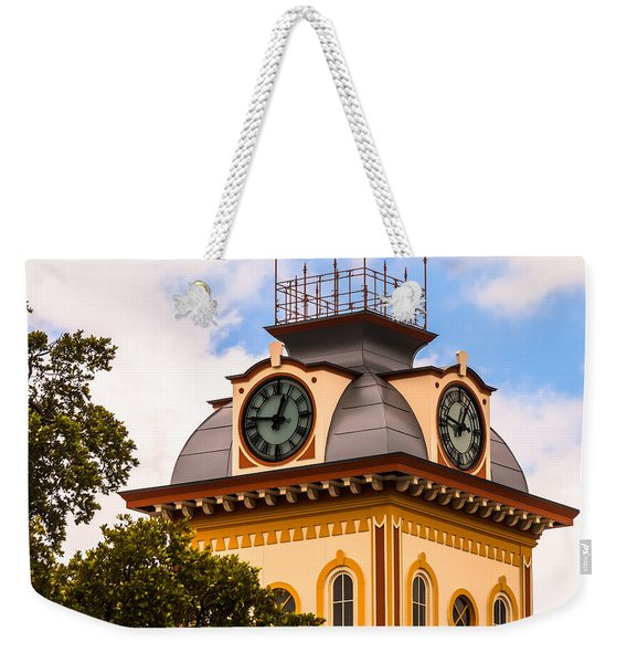 John W. Hargis Hall Clock Tower Weekender Tote Bag