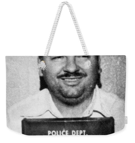 John Wayne Gacy Mug Shot 1980 Black And White Weekender Tote Bag