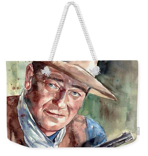 John Wayne Portrait Weekender Tote Bag