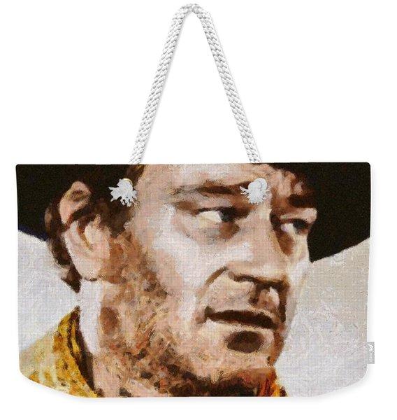 John Wayne, Vintage Hollywood Actor Weekender Tote Bag