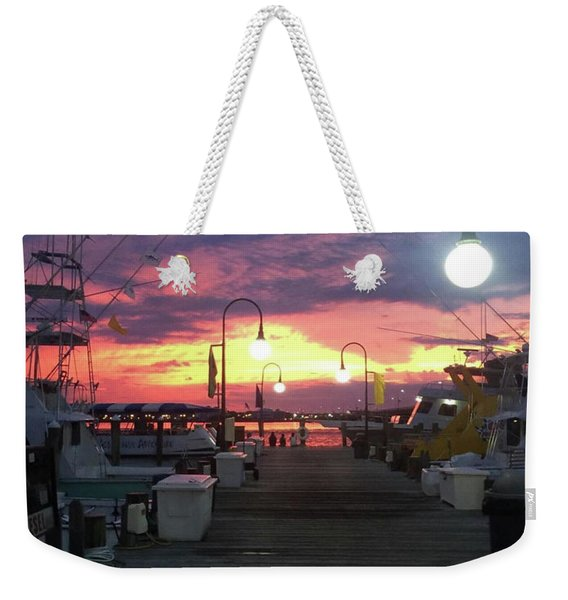 John's Daughter's Talbot St Pier Sunset Weekender Tote Bag