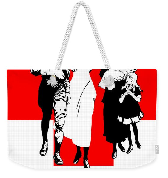 Join Our Red Cross Weekender Tote Bag