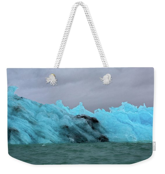 Jokulsarlon Blue Ice Glacier Weekender Tote Bag