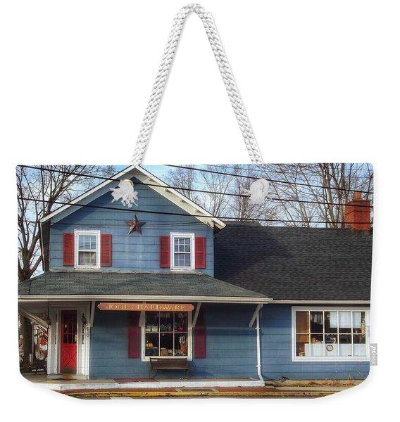 Jones Hardware, A Pequannock Legend Weekender Tote Bag