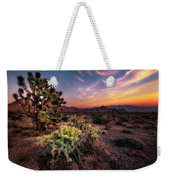 Joshua Tree And Cactus At Sunset Weekender Tote Bag
