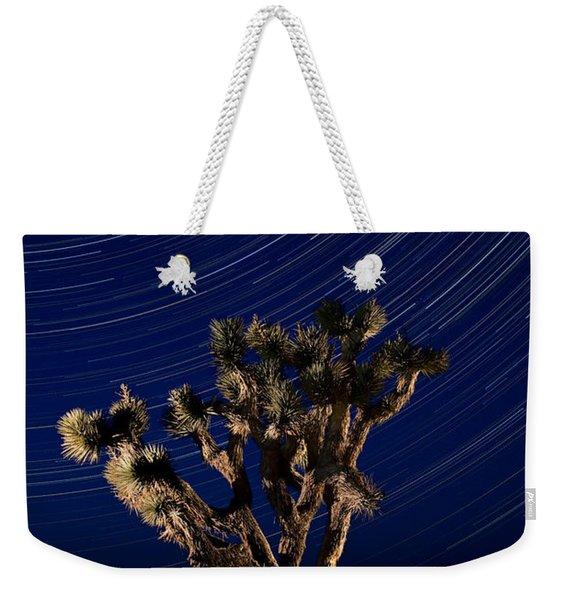 Joshua Tree And Star Trails Weekender Tote Bag