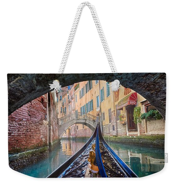 Journey Through Dreams - A Ride On The Canals Of Venice, Italy Weekender Tote Bag