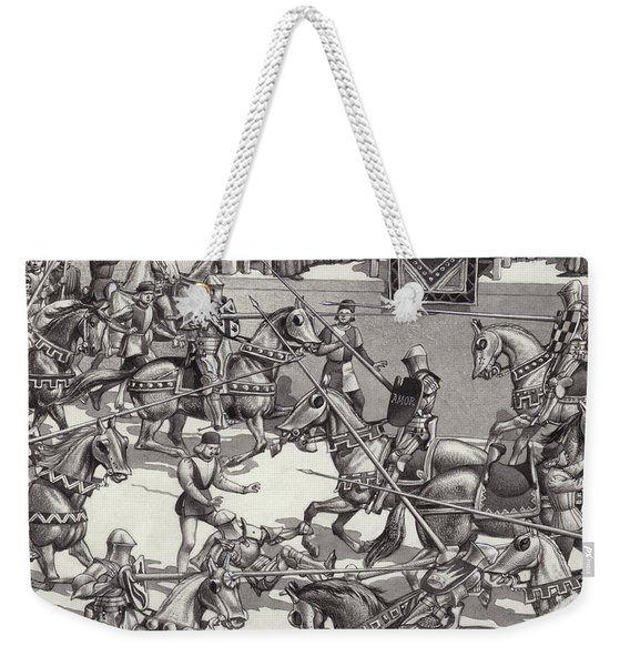Jousting In Florence In The 15th Century Weekender Tote Bag
