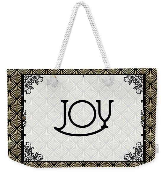 Joy - Art Deco Weekender Tote Bag