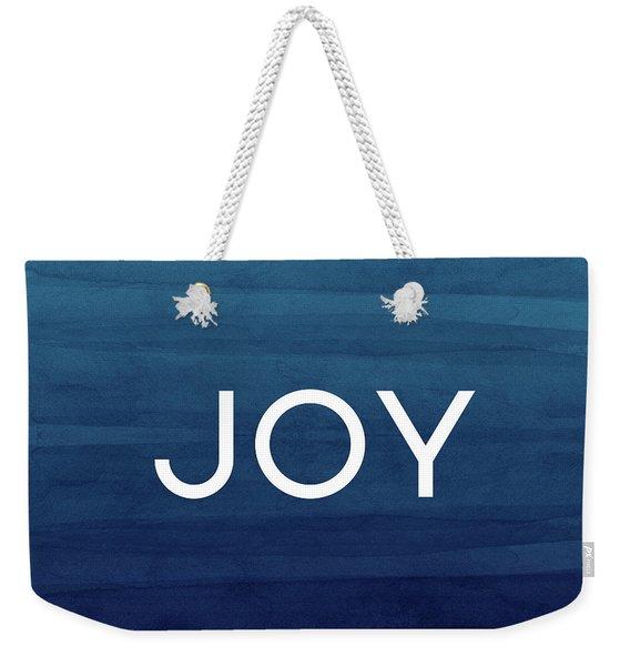 Joy Blue- Art By Linda Woods Weekender Tote Bag
