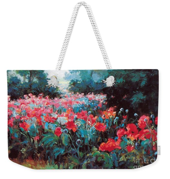 Weekender Tote Bag featuring the painting Joy by Rosario Piazza