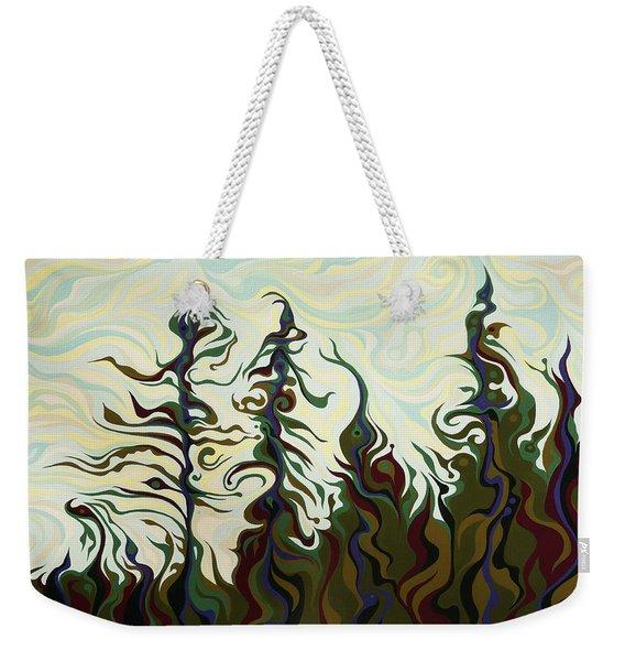 Joyful Pines, Whispering Lines Weekender Tote Bag