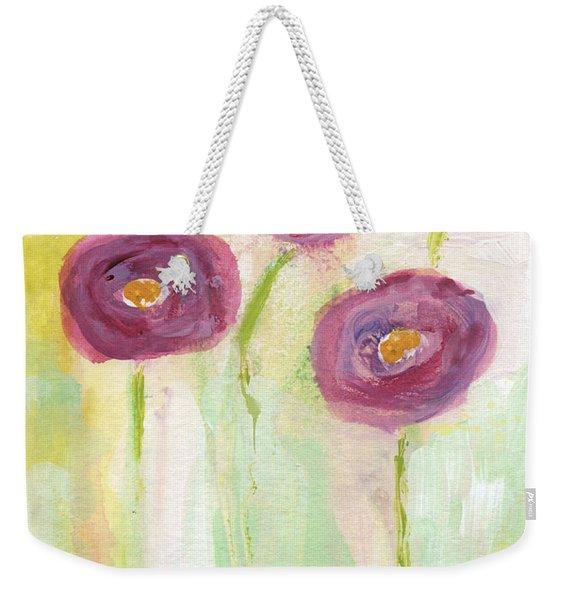 Joyful Poppies- Abstract Floral Art Weekender Tote Bag