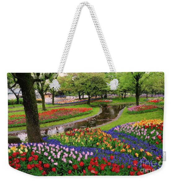 Weekender Tote Bag featuring the digital art Jubilee  by Rosario Piazza