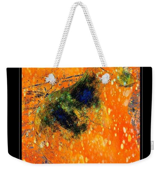 Jug In Black And Orange Weekender Tote Bag