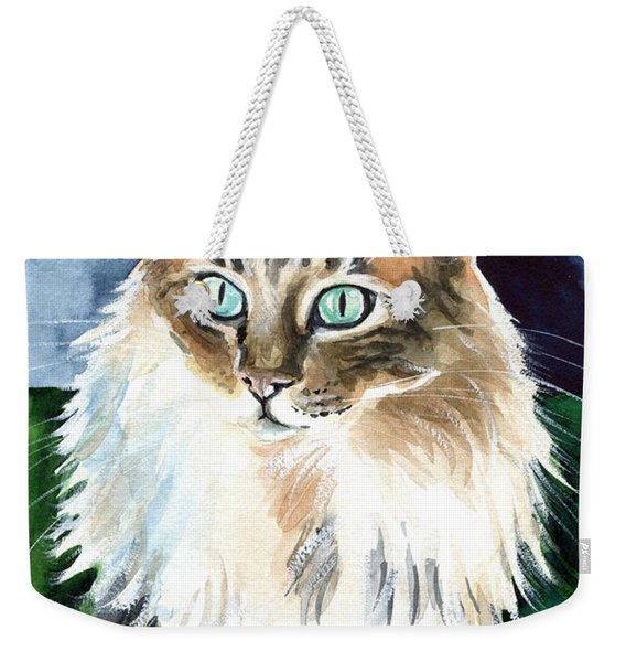 Juju - Cashmere Bengal Cat Painting Weekender Tote Bag