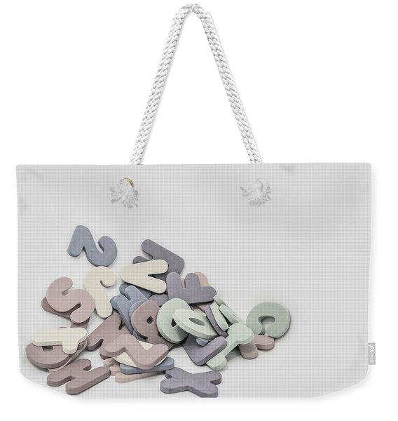 Jumbled Letters Weekender Tote Bag