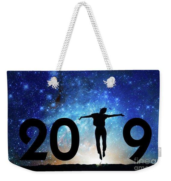 Jump New Year Card Weekender Tote Bag
