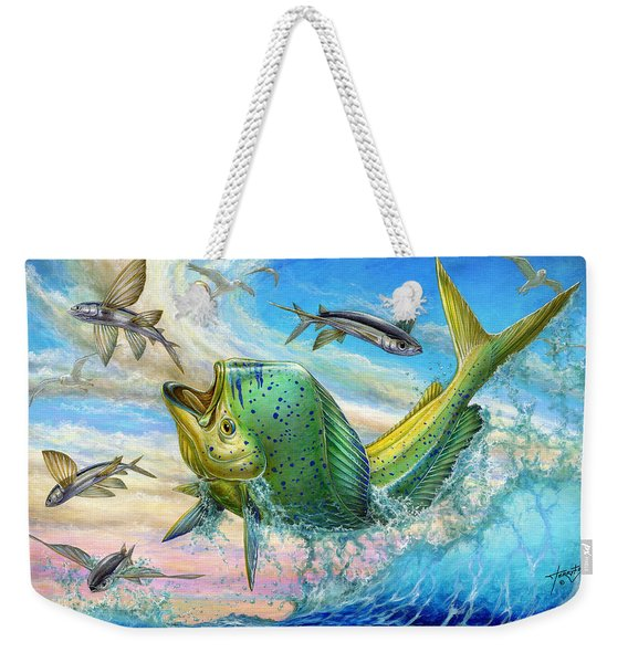 Jumping Mahi Mahi And Flyingfish Weekender Tote Bag
