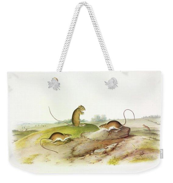 Jumping Mouse Weekender Tote Bag