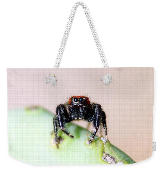 Jumping Spider Weekender Tote Bag