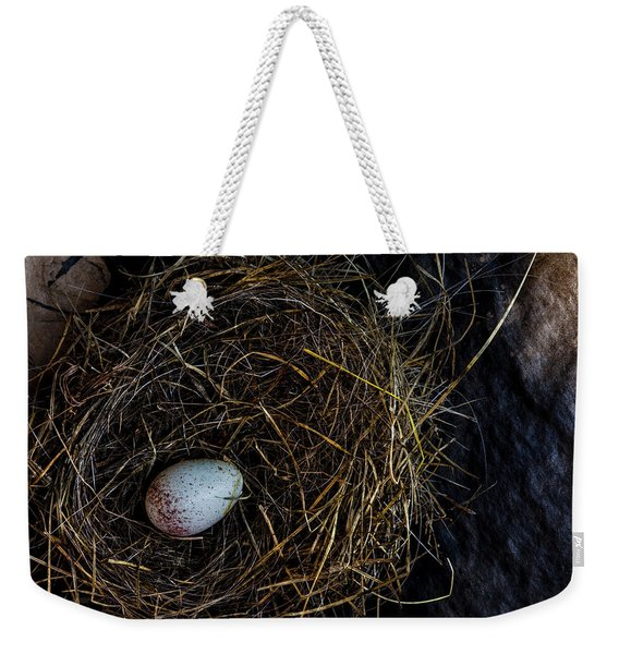 Junco Bird Nest And Egg Weekender Tote Bag