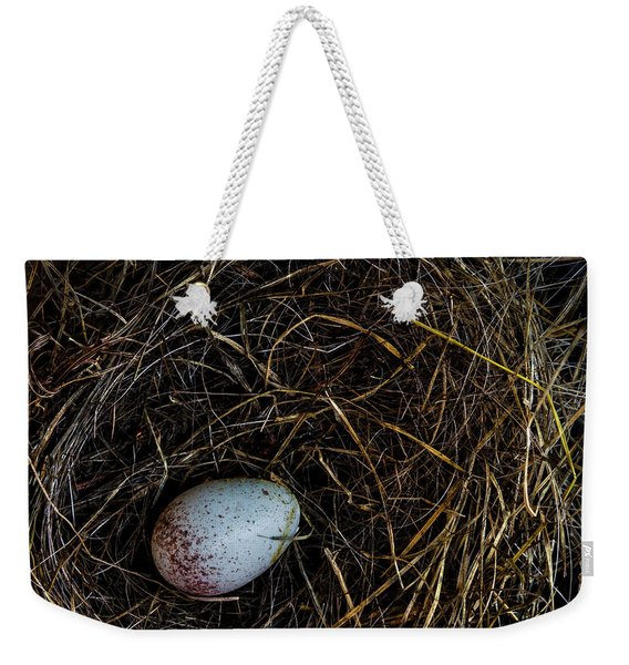 Junco Bird Nest And Egg Square Version Weekender Tote Bag