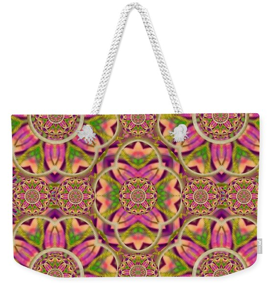 Jungle Flowers In Paradise  Lovely Chic Colors Pop Art Weekender Tote Bag