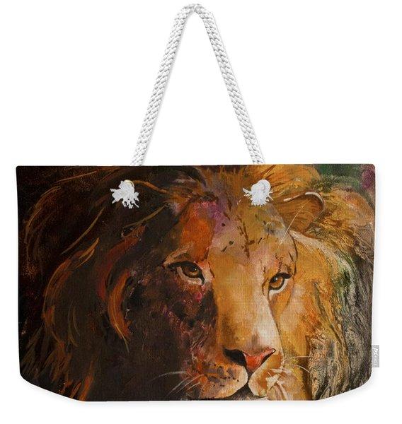 Jungle Lion Weekender Tote Bag