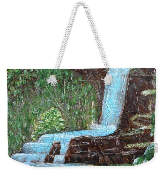 Jungle Waterfall Weekender Tote Bag