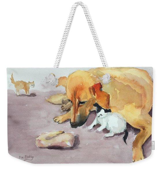 Junior And Amira Weekender Tote Bag