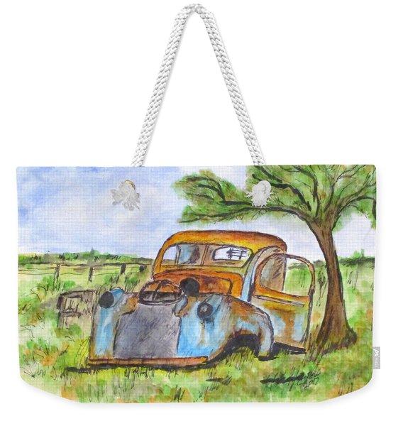 Junk Car And Tree Weekender Tote Bag