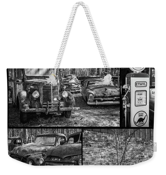 Junk Yard Cars Weekender Tote Bag