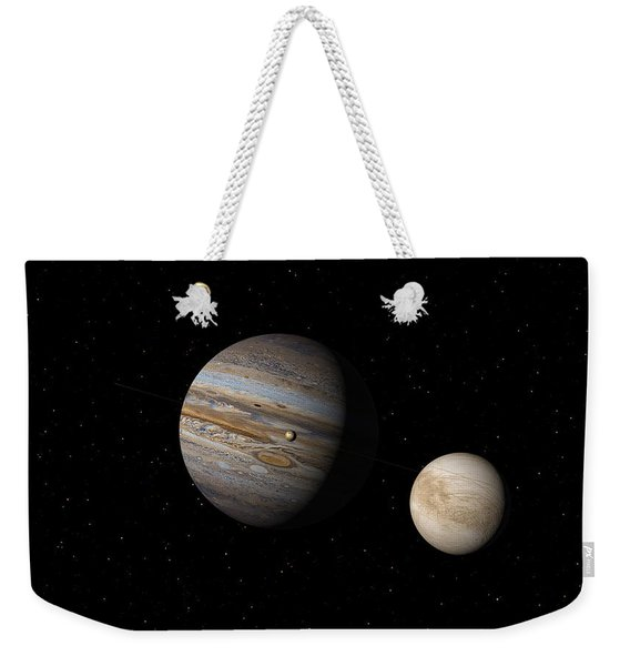 Jupiter With Io And Europa Weekender Tote Bag