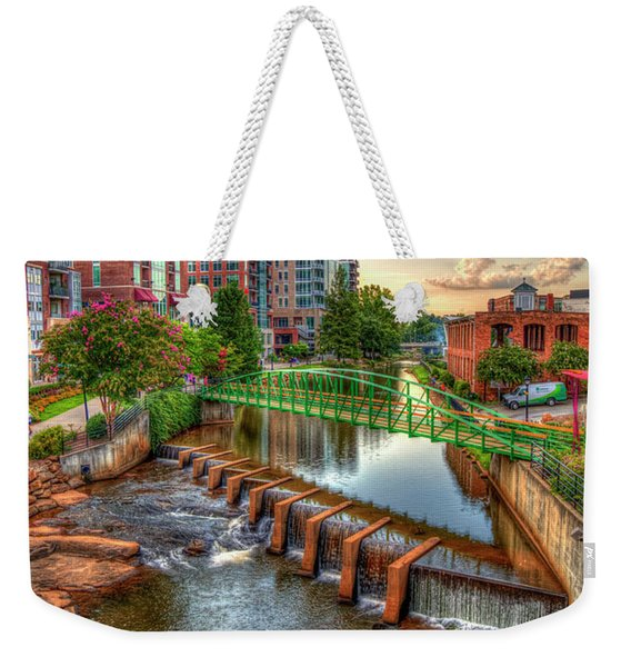 Just Before Sunset Reedy River Falls Park Greenville South Carolina Art Weekender Tote Bag
