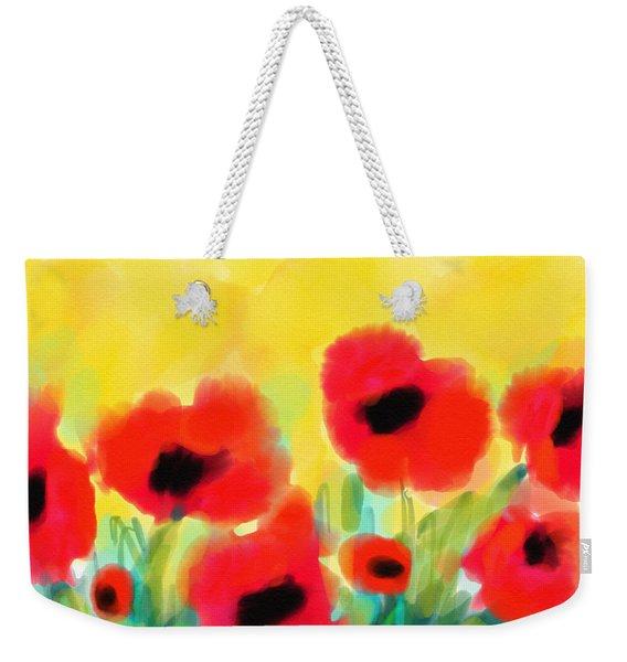 Just Poppies Weekender Tote Bag