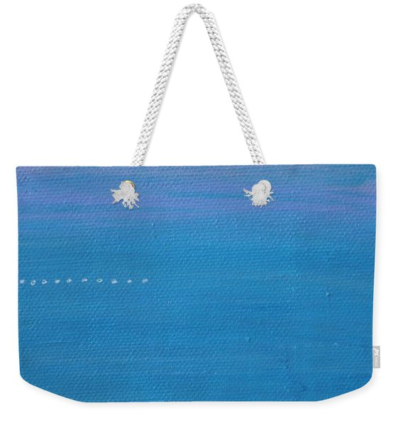 Weekender Tote Bag featuring the painting Just Under The Surface II by Kim Nelson