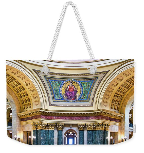 Justice Mural - Capitol - Madison - Wisconsin Weekender Tote Bag
