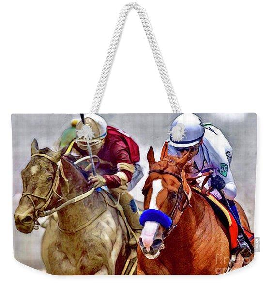 Justify In The Lead Weekender Tote Bag