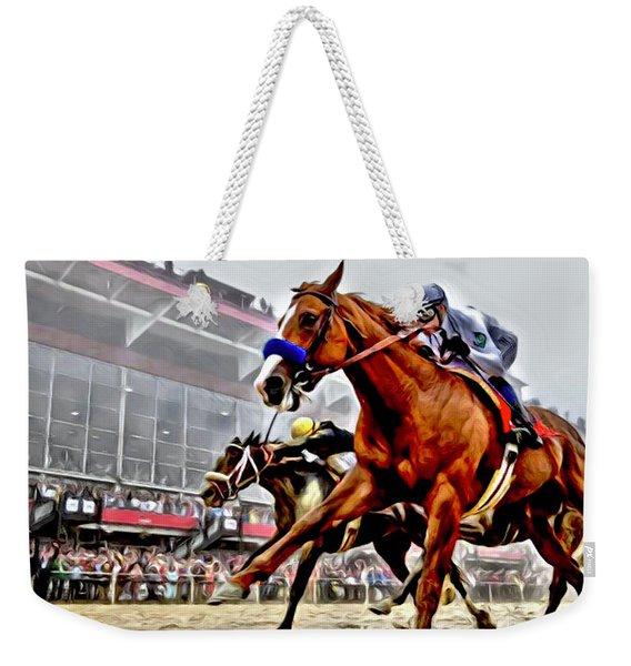 Justify Wins Preakness Weekender Tote Bag