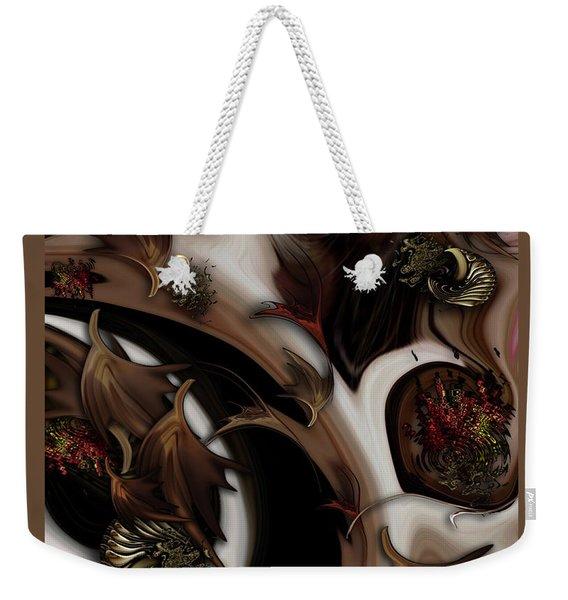 Juxtaposed Nature Weekender Tote Bag