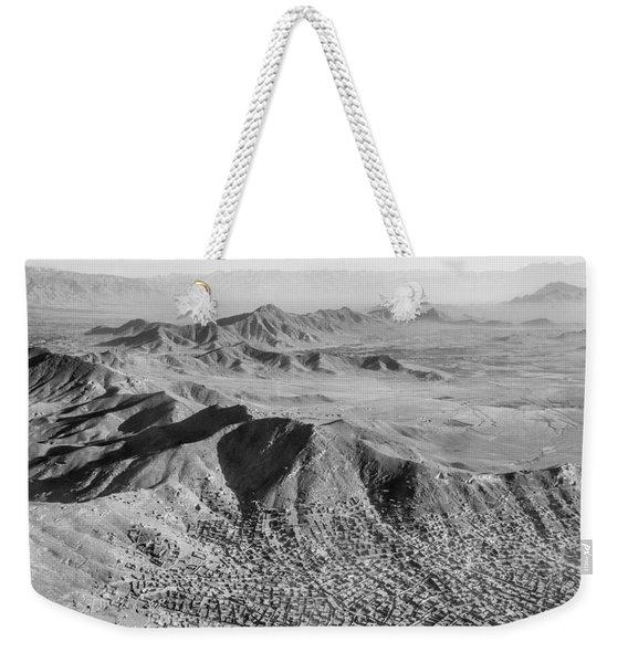Kabul Mountainous Urban Sprawl Weekender Tote Bag