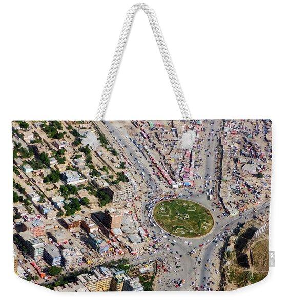 Kabul Traffic Circle Aerial Photo Weekender Tote Bag