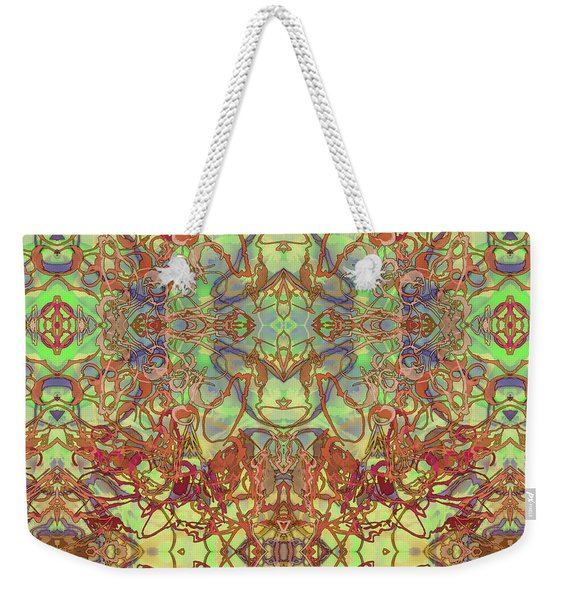 Kaleid Abstract Tapestry Weekender Tote Bag