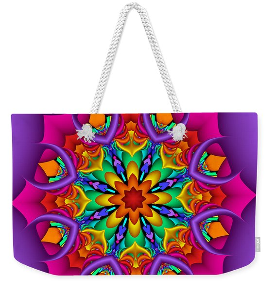 Kaleidoscope Flower 01 Weekender Tote Bag