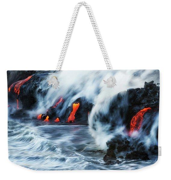Kamokuna Lava Ocean Entry, 2016 Weekender Tote Bag