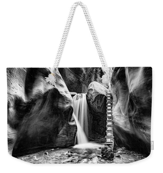 Kanarraville Falls Bw Weekender Tote Bag