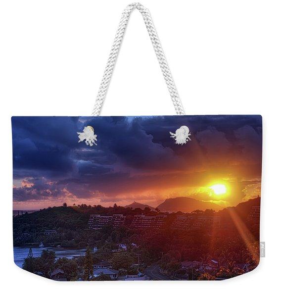 Kaneohe Sunrise Weekender Tote Bag